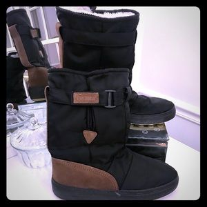 Tecnica snow boot black brown shearling line 43/44
